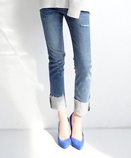 [CB0313] 1JA ROLLUP牛仔短裤<br>牛仔布