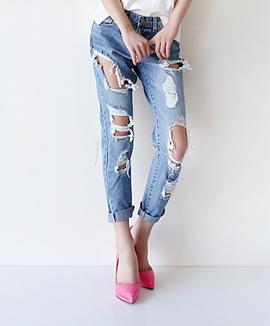 [CB0314] DEMAGE VINTAGE裤子<br>牛仔布